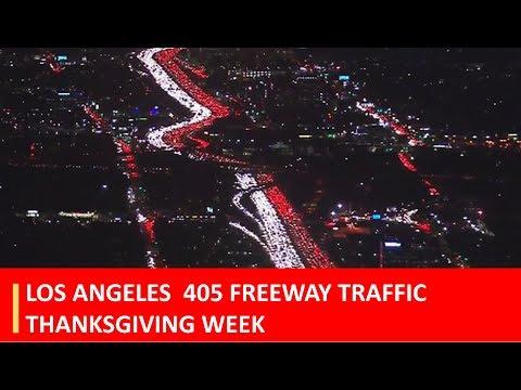 Los Angeles Traffic Jam At 405 Freeway Ahead Of Thanksgiving