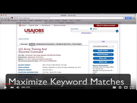 Get a Government Job on USAJOBS using FASCLASS