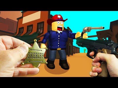 REALISTIC ROBLOX - WORLDS BEST SHERIFF COWBOY GUNSLINGER - BOUNTY First-person Shooter REVOLVER
