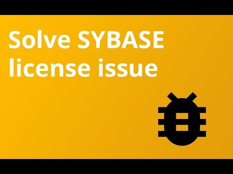 How to solve sybase license issue in SAP NPL