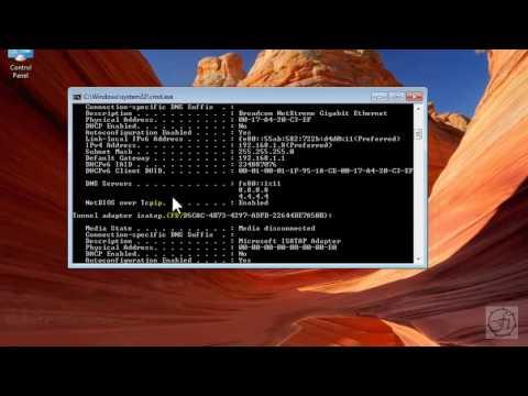 Chack ip address in all windows xp/vista/7/8/10