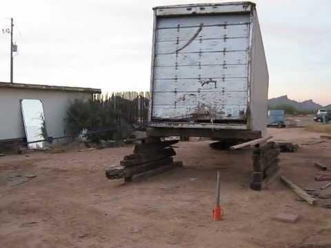 Turning a semi-trailer into a storage unit