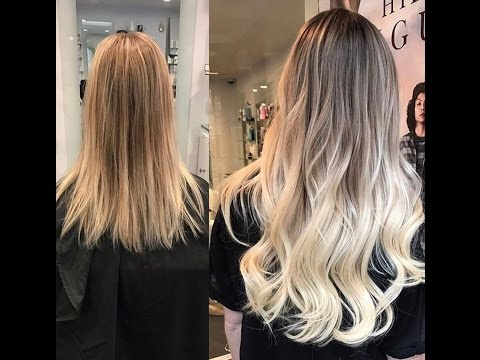 Ombre Tape In Hair Extensions Transformation