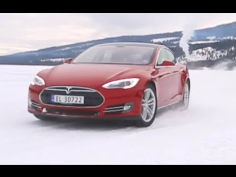 Whats A Tesla Like On Snow? Tesla Model S Driving Commercial Electric Cars 2015 CARJAM TV HD 4K