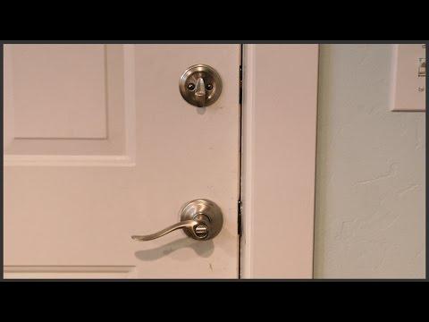 Installing Lever Handle Door Knobs with Deadbolts