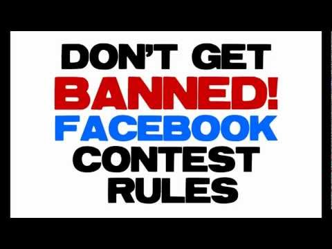 Facebook Contest Rules - Don't Get Banned