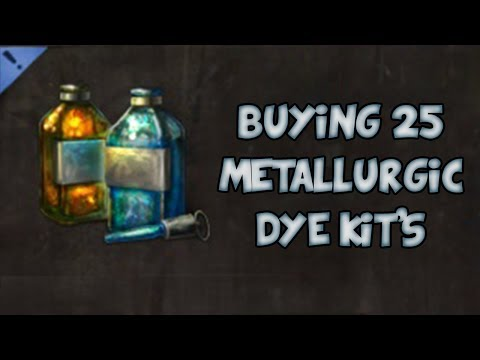 BUYING 25x METALLURGIC DYES! | Guild Wars 2 Gemstore Shopping #016