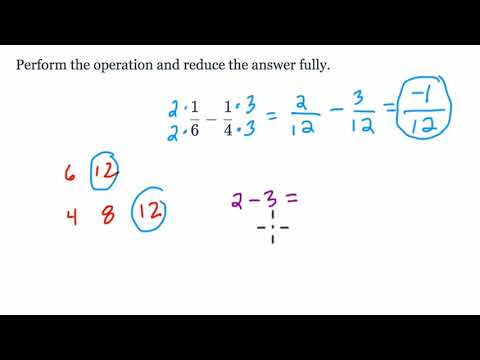 Fraction Subtraction with Negative Results