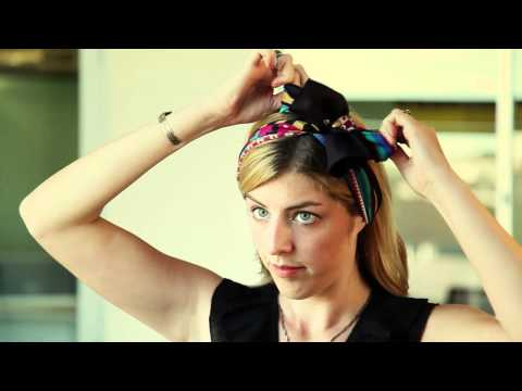 How To Tie a Headscarf: The Bow Topper