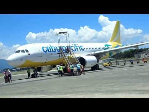 Cebu Pacific Air Puerto Princesa Palawan Island to Manila A320