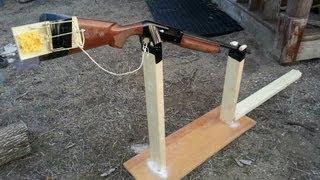 Hillbilly Gopher Trap - 12 gauge, fishing string, rat trap
