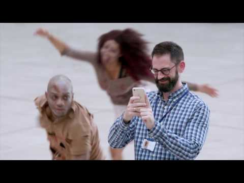 Epic Zombie Thriller Flash Mob at Office Building!
