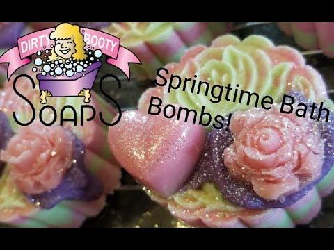Springtime Bath Bombs with The Moon Cake Press!