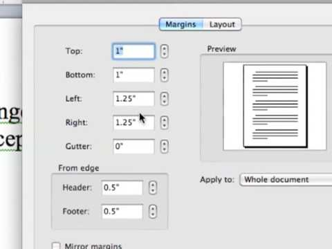 How to change the margins in MS Word 2008 for Mac.