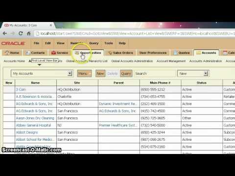 Siebel Open UI Customization: Sortable Screen Tabs