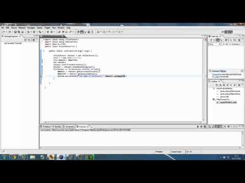 Java Tutorial | Using JOptionPane in JFileChooser Dialog box
