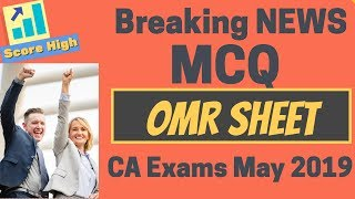 Download ICAI Breaking News OMR Sheets For CA Inter and CA Final Level Video