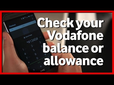 Check Vodafone balance or allowances