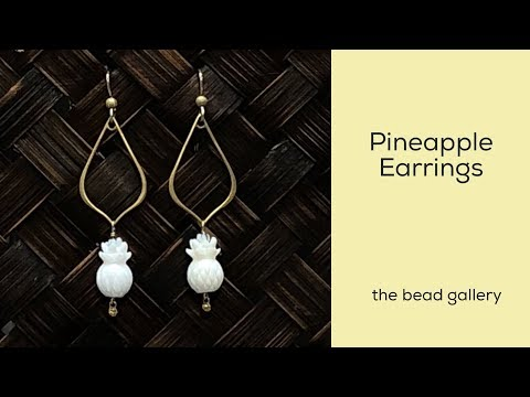 Pineapple Earrings at The Bead Gallery