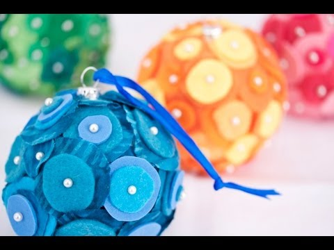 Zart Art Christmas Decorations: Felt Baubles