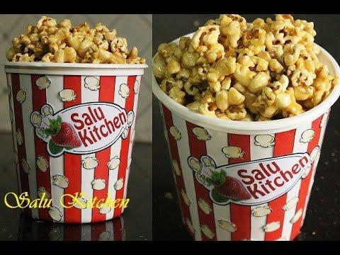 How To Make Caramel Popcorn / Making Popcorn in a Pan
