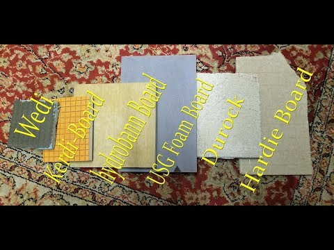 Choosing a backerboards for your shower Cement board versus Foam boards