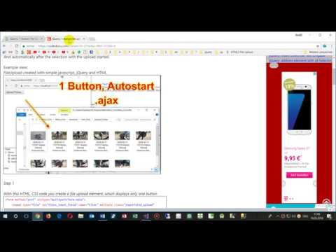 1-Button FileUpload Start automatically with jQuery, ajax and javascript. Asp Core MVC