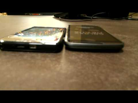 Samsung Galaxy Nexus vs Droid Razr size comparison