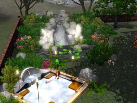 The Sims 3 - Backyard Waterfall