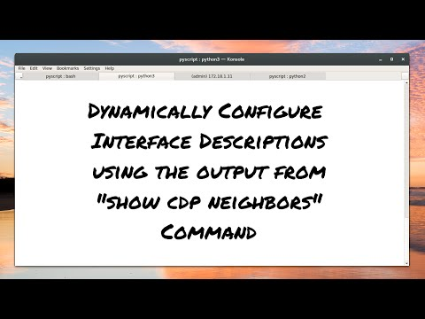 Network Automate - 09. Dynamic Configuration with 'show cdp neighbors'