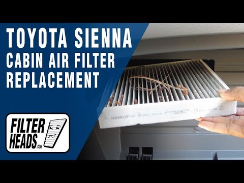 How to Replace Cabin Air Filter Toyota Sienna