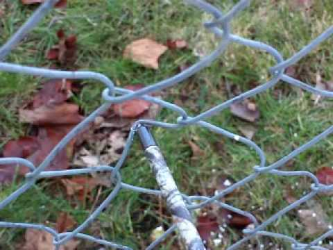 How to bend up a chain link fence