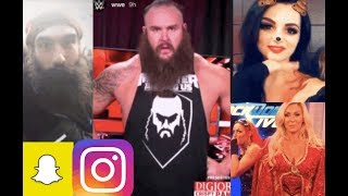 WWE Snapchat/IG ft. Paige, Braun Strowman, Charlotte, Luke Harper, Bayley, Renee Young n MORE