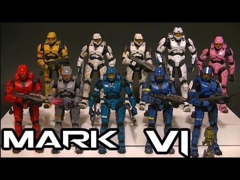 McFarlane Halo 3 MARK VI Armor Comparative Figure Review
