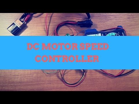 HOW TO CONTROL THE SPEED AND DIRECTION OF A DC MOTOR PWM SPEED CONTROLLER