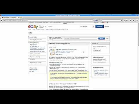 How to Retract a Bid on Ebay