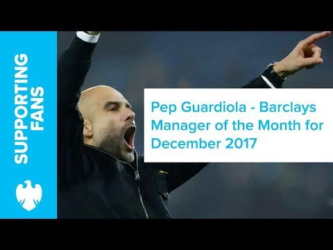 Barclays | December 2017 | Premier League Manager of the Month
