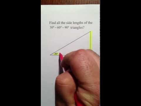 Moya Math Geometry (30-60-90 Right Triangles)