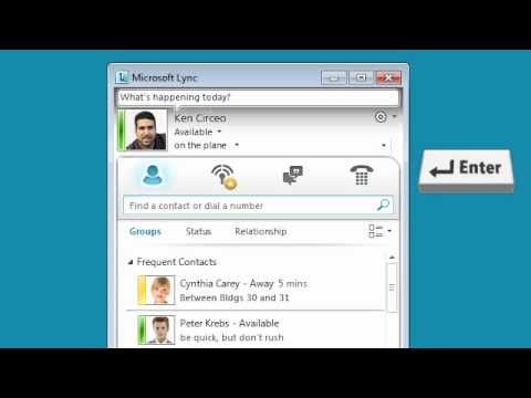 How to 'set your location' in Microsoft Lync 2010