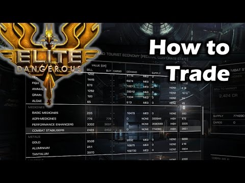 Elite Dangerous - How to Trade / Trading Tutorial / Guide