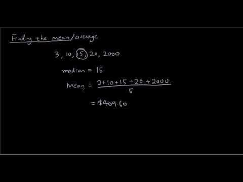 Statistics lesson 5: Calculate the Mean / Average