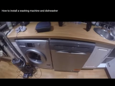 How to install a washing machine and dishwasher