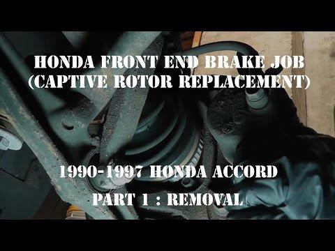 1990-1997 Accord Brake Job (Captive Rotor Replacement) Hub Over Rotor Part 1