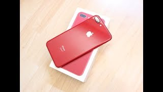 SUPREME x IPHONE?! | iPhone 8 Plus Product Red Unboxing + Spigen Clear Case