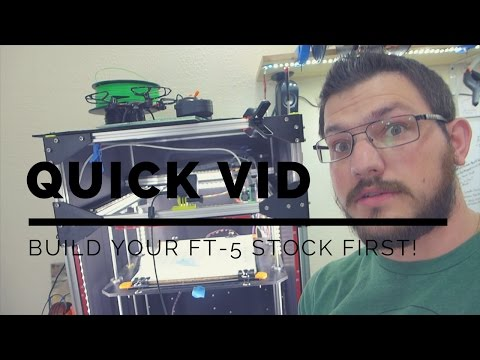 Build Your 3D Printer Stock First!!