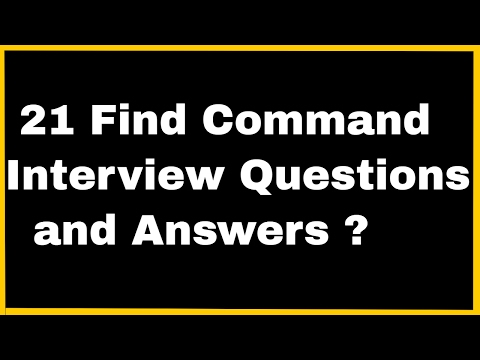 Linux Tip-Find Command Interview Questions & Answers ?