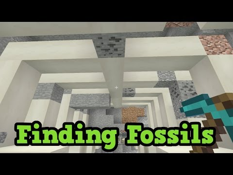 Minecraft - BEST Way To Find Fossils (TU43 Tutorial)