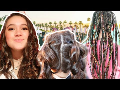 I Style The MOST Popular COACHELLA Hairstyles... FionaFrills
