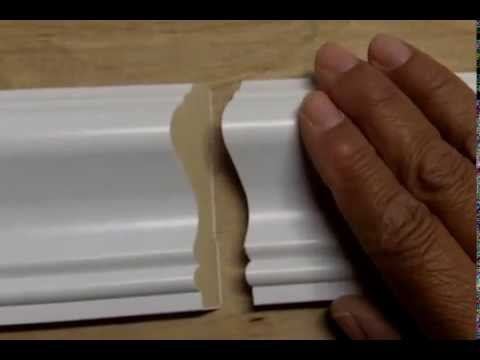 How to Attach 2 Pieces of Baseboard or Chair Rail with a Scarf Joint