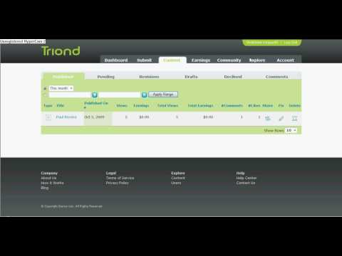 Triond! how to use.